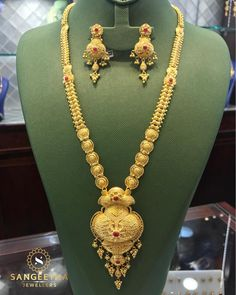Gold Jewelry For Wedding Info: 9081089390 Gold Jewelry Simple, Gold Rings Jewelry, Gold Jewellery, Handmade Jewellery, Gold Mangalsutra, Gold Earrings Designs, Necklace Designs, Gold Necklace, Gold Haram