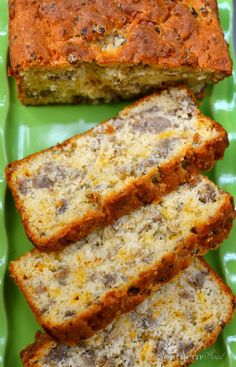 Sausage & Cheese Bread _ Warm, cheesy & packed with savory flavor is what this bread is all about! It's just the thing to serve for veggie night or toasted for breakfast | A Southern Soul