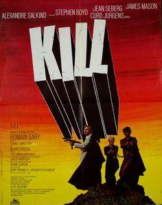 Jean Seberg Stephen Boyd James Mason Curd Jurgens Kill Romain Gary 1971 60x80 | eBay