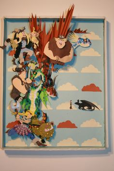 Stunning 'How to Train your Dragon' paper art.