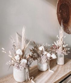 Dried Flower Arrangements, Dried Flowers, Deco Floral, Floral Design, Flower Decorations, Wedding Decorations, Deco Boheme, Flower Boxes, Home Decor Inspiration