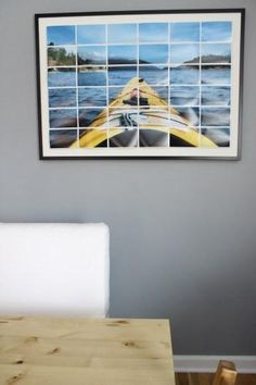 DIY Wall Art : DIY Enlarged Photo Art