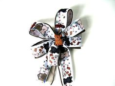 Brown terrier gift bow/ Gift bow for a dog/ Gift for pets and pet lovers/ Small gift bow/ Pet collar decoration/ Dog treat bow (DC70)