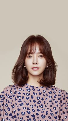 Korean Hairstyles Women, Elegant Hairstyles, Bride Hairstyles, Asian Hairstyles, Medium Hair Styles, Short Hair Styles, Middle Hair, Red Hair Color, Korean Actresses