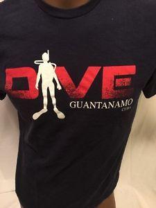 Dive Guantanamo Cuba Logo TSHIRT Medium Navy Reef Diving Scuba  | eBay