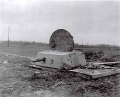 captured by the Division near Niederzier, Germany. Timber-shored hole six to eight feet deep and surmonted by bolted turret of half inch armor mounting one Cal machine gun D Day Ww2, D Day Normandy, Operation Market Garden, World Conflicts, Military Armor, The Time Machine, Ww2 Tanks, Military Diorama, Fortification