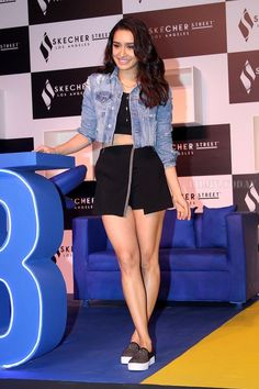 Shraddha Kapoor at the Launch Of Skechers Street Party on Nov 2017 Bollywood Actress Hot Photos, Beautiful Bollywood Actress, Beautiful Indian Actress, Indian Bollywood, Bollywood Fashion, Bollywood Stars, Indian Celebrities, Bollywood Celebrities, Shraddha Kapoor Cute