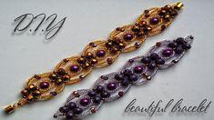 Bracelet | Beaded Bracelet Tutorial | DIY | How to make bracelets | Blac...