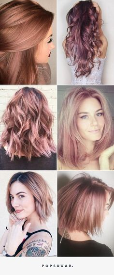Fabelhafte Rose Gold Haarfarbe 2017 - Neue Besten Frisur Fabuloso color de cabello rosa dorado 2017 # 2017 y belleza Hair Color 2017, Hair Color And Cut, Unique Hair Color, Pastel Hair, Pink Hair, Pastel Red, Pastel Shades, Rose Gold Hair Brunette, Rose Blonde