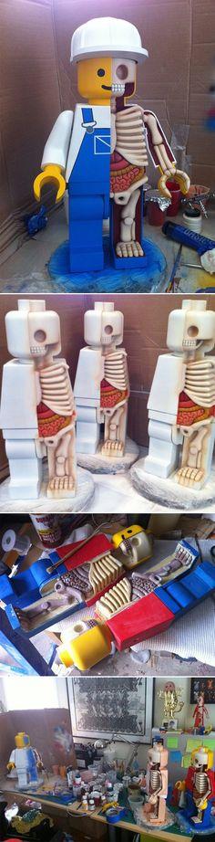 """Anatomie de Lego géants Jason Freeny est un artiste américain qui vit et travaille à New York, il est bien connu pour ses """"dissections"""" de personnages comm"""