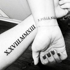 Roman Numeric Tattoos13