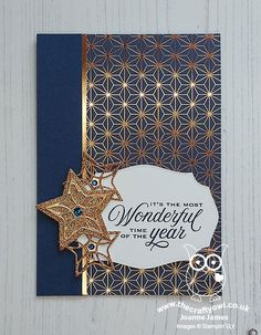 The Crafty Owl | The daily blog of Joanne James Independent Stampin' Up! Demonstrator -- joanne@thecraftyowl.co.uk Christmas Cards 2017, Homemade Christmas Cards, Merry Christmas To All, Stampin Up Christmas, Christmas Wishes, Handmade Christmas, Holiday Cards, Christmas Trimmings, Christmas Stockings