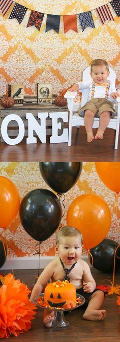 Halloween set up / cake smash featuring Orange/White Grunge Damask Backdrop from Backdrop Express Halloween Photos, Halloween Cakes, Chocolate Angel, Photography Set Up, Halloween Photography, Candied Fruit, Angel Cake, Orange Recipes, Cake Tins