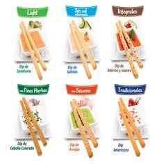 Proba las 6 variedades de #GrisinesRiera con los dips que más te gusten y disfruta del sabor de lo rico y saludable.  Encontrá las recetas al dorso de los packs!  www.riera.com.ar