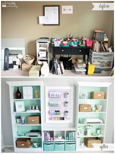 A Fabulously Feminine Home Office | Just a Girl and Her Blog