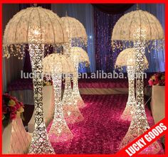 2014 White Jellyfish Wedding Pillars For Sale Photo, Detailed about 2014 White J. Wedding Pillars, Indian Wedding Decorations, Jellyfish, Handicraft, Tent, Backdrops, Chandelier, Ceiling Lights, Detail