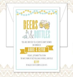 Beers and Bottles Baby Shower Couples Shower by SpillingBeans