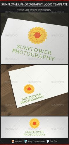 Sunflower Photography - Logo Design Template Vector #logotype Download it here: http://graphicriver.net/item/sunflower-photography-logo-template/3171621?s_rank=1714?ref=nesto