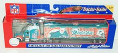 MIAMI DOLPHINS NFL 1:80 DIECAST SEMI TRUCK TRACTOR TRAILER TOY VEHICLE 2005 #FleerCollectiblesLLC #MiamiDolphins