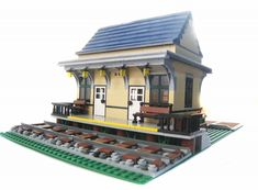 Train Station: A LEGO® creation by Brian Lyles : MOCpages.com