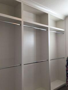20 Ideas Narrow Closet Organization Fit For 2019 Walk In Closet Design, Bedroom Closet Design, Master Bedroom Closet, Closet Designs, Bedroom Closets, Spare Room Closet, Wardrobe Room, Narrow Closet, Small Closets