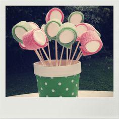 Snoeplollies op een stokje