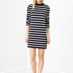 Stripe sweater dress [Petite]