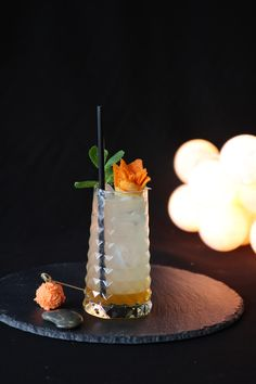 Ginger & Citrus Collins, with Tangerine Syrup 1883. #Cocktail #Bartender
