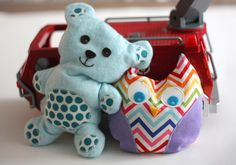 Teddy Bear and Owl filled with rice.  Could be an ice pack or heat pad.  Very cute.  Good idea for gifts.