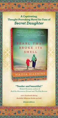 """The Pearl That Broke Its Shell is """"a captivating, thought-provoking novel for fans of The Secret Daughter."""" (As seen in the Globe and Mail in May And The Mountains Echoed, Good Books, My Books, The Kite Runner, Khaled Hosseini, Thought Provoking, Book Worms, Madness, Globe"""