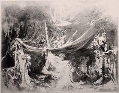 """"""" Tannhäuser """" 1.Aufzug 1.Bild Liebesgrotte 1891 Entwurf Max Brückner"""