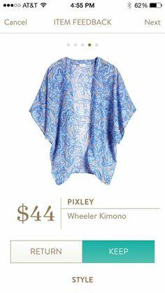 Jessica, this Kimono is perfect, not too long and I love the colors. Pixley Wheeler Kimono - Stitch Fix