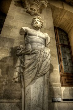 "Colossal bust of Zeus known as ""Jupiter of Versailles, Louvre Museum, Paris I"