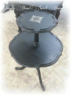 Antique Pie Crust Table. Painted In Typewriter Miss Mustard Seedu0027s Milk  Paint~ $45 SOLD