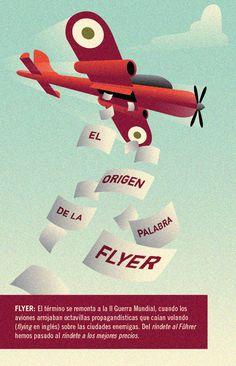 Belowpedia Ilustrada: El origen de la palabra flyer. #Advertising