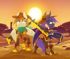 Golden Riders of the Frontier by Equestria Prevails
