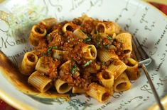 "Italian Food Forever » Pasta With Lentil Bolognese. Great for a ""Meatless Monday!"
