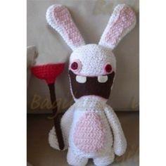 Amigurumi Nintendo Wii Rayman Raving Rabbid Bunny...