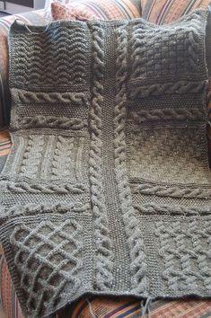 Modèle tricot Plaid Carré Décembre...