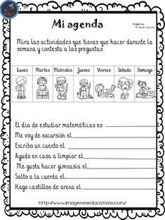Fichas para aprender los meses y los días de la semana - Imagenes Educativas Spanish Lesson Plans, Spanish Lessons, Spanish Classroom, Teaching Spanish, Weather Calendar, Spanish Worksheets, Kids Learning, Literacy, Language