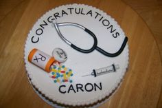 Nurse Graduation cake - Sister in law was graduating from college with her Masters in Nursing