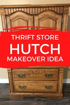 Love furniture flips? check out the before and after hutch upcycle project. This creative and awesome farmhouse makeover will be sure to inspire you for your next painted furniture project. #diy #hutch #makeover Hutch Makeover, Furniture Makeover, Furniture Projects, Diy Furniture, Refurbishing Furniture, Repurposed Furniture, Diy Projects, Vintage China Cabinets, Simple Desk