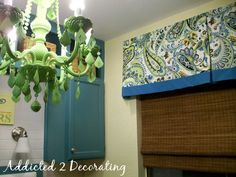 Lined Valance With Contrasting Fabric Band - Addicted 2 Decorating®