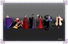 Disney female Villains by AmadeuxWay.deviantart.com on @deviantART