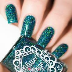 Swatch of Glitter Daze The Wicked Witch of the West Nail Polish