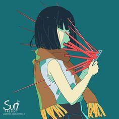 Mimi N are creating SUN Project - Fanart - Critique Dark Art Illustrations, Illustration Art, Sad Anime, Anime Art, Dessin Old School, Sun Projects, Vent Art, Arte Obscura, Dibujos Cute