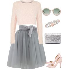 A fashion look from February 2015 featuring River Island sweaters, Chicwish skirts and Charlotte Olympia pumps. Browse and shop related looks.