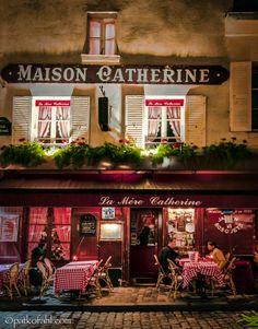 Maison Catherine, a restaurant on the Place du Tetre, Montmartre by Pat Kofahl