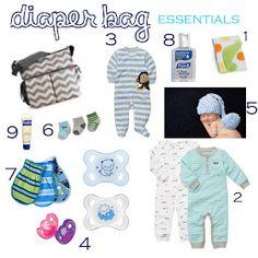 Crazy Life of Us: Hospital diaper bag essentials.