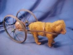 This one is AMAZING!!!!     Early 20th C STEIFF German MOHAIR Teddy BEAR Bell PULL TOY